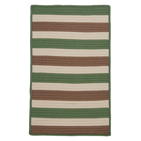 Colonial Mills Stripe It 4-ft x 6-ft Moss-Stone Area Rug