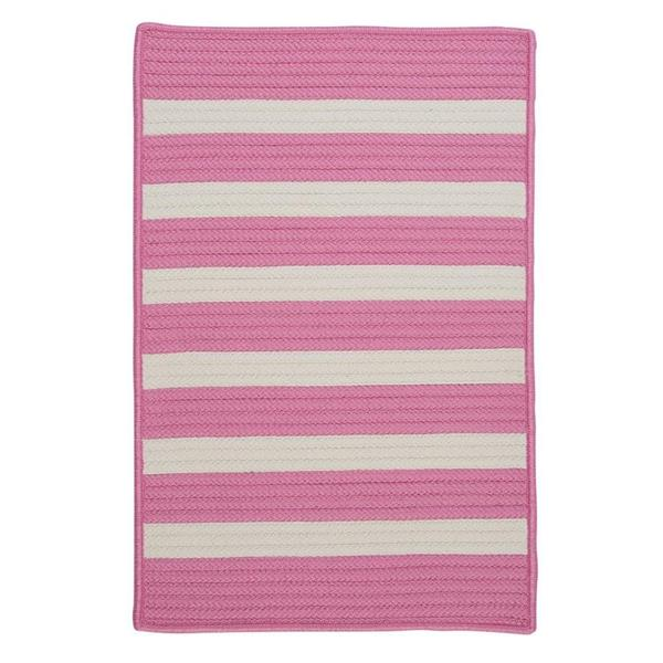 Colonial Mills Stripe It 4-ft x 4-ft Bold Pink Area Rug