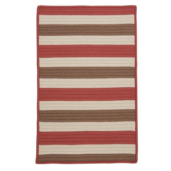 Colonial Mills Stripe It 8-ft x 11-ft Terracotta Area Rug