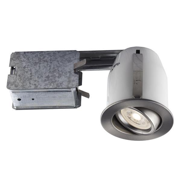 Kit d'éclairage à DEL encastré au chrome avec ampoule, 3''
