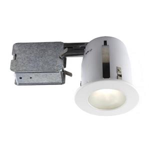 BAZZ 4-in White Recessed Fixture Kit for Damp Locations