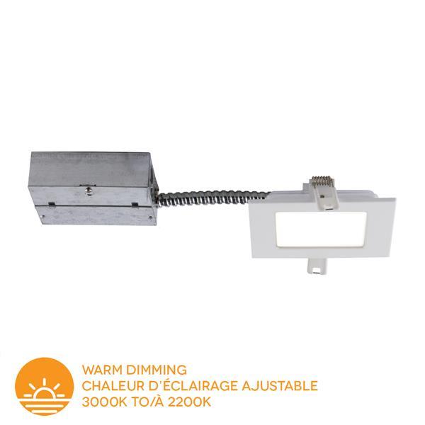 Bazz 4-in Slim Matte White Warm Dimming LED Recessed Kit