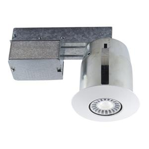 Bazz 4-in White Recessed Kit With Bulb Included