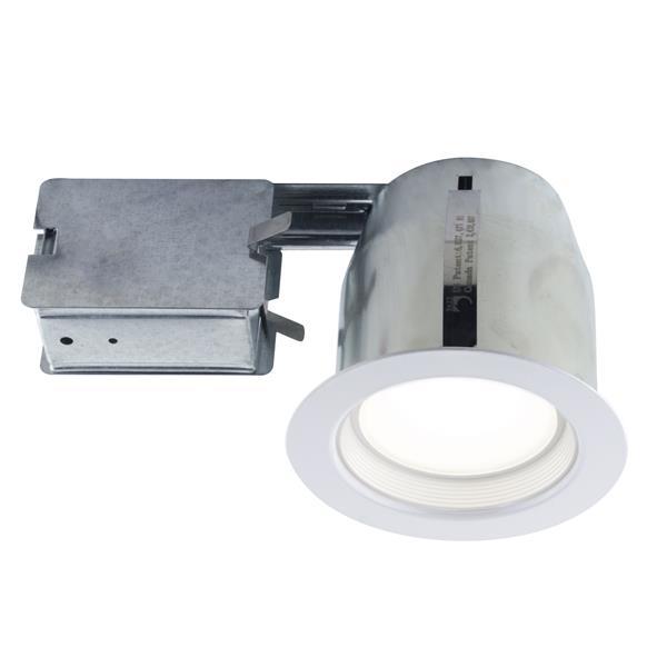 Kit d'éclairage à DEL encastré blanc, ampoule GU10, 4''