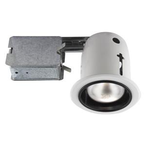 Bazz 5-in White Incandescent Recessed Kit with Bulb Included