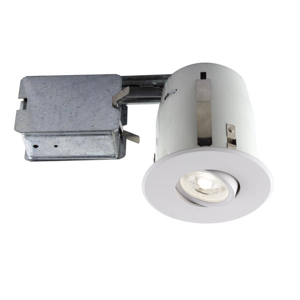 Trousse d'éclairage à DEL encastré blanc mat, GU10, 4''