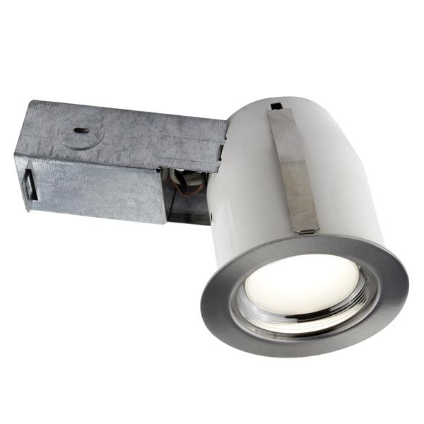 BAZZ 3-in Chrome Integrated LED Recessed Kit for Damp Areas