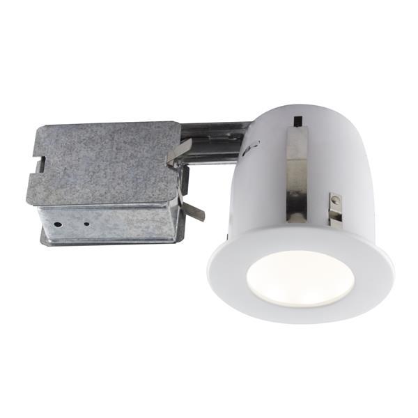 Trousse de luminaires encastrés à DEL blanc mat, 4''