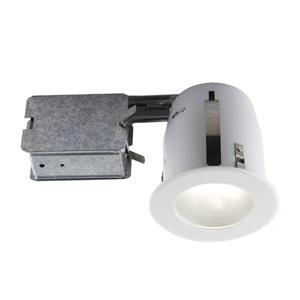 Bazz 4-in White Slim Design Recessed Kit for Damp Locations
