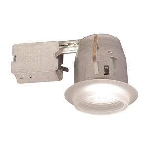 Bazz 5-in White Recessed Kit for Damp Locations