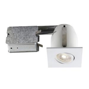 Ensemble DEL encastré blanc, ampoule incluse, 3''