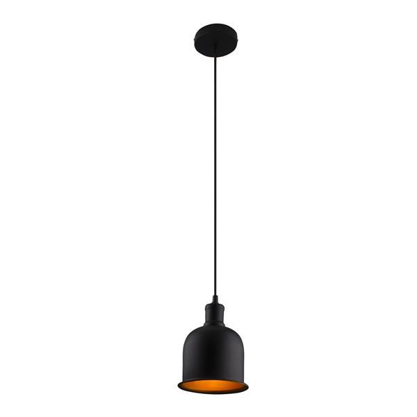 Luminaire cloche suspendu, noir, 65,5''