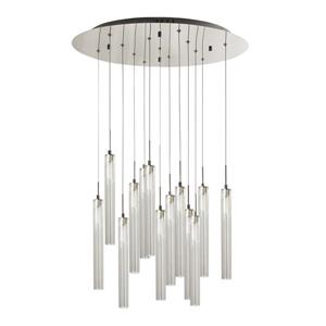 Bazz Frosted White 13-Light Pendant Light