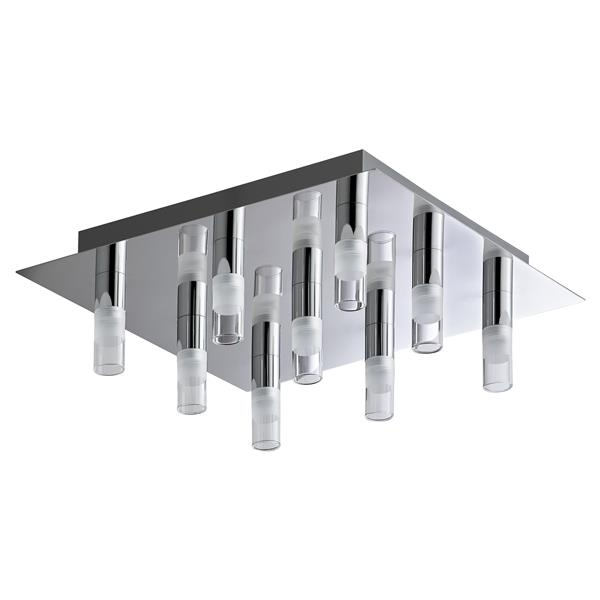 Bazz Integrated 13 38 In Chrome Led 9 Light Ceiling Fixture Cl09led Rona