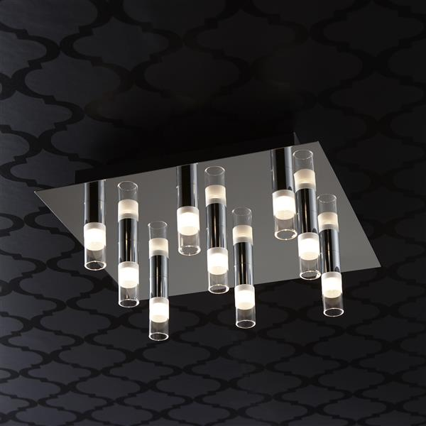 Bazz Integrated 13.38-in Chrome LED 9-Light Ceiling Fixture