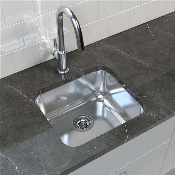"""Cantrio Koncepts Stainless Steel Undermount Kitchen Sink - 20"""" x 18"""""""