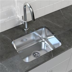"Cantrio Koncepts Stainless Steel Undermount Kitchen Sink - 17.75"" x 23"""
