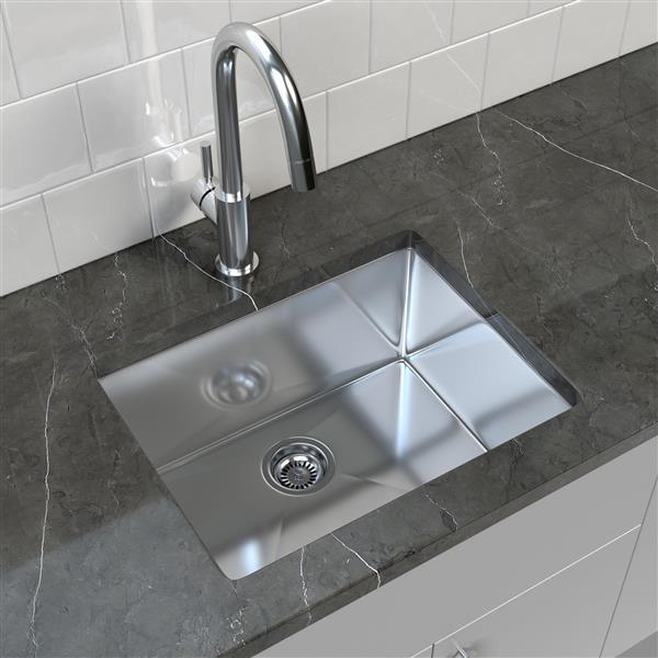 """Cantrio Koncepts Stainless Steel Undermount Kitchen Sink - 23"""" x 18"""""""