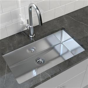 Stainless Steel Undermount Kitchen Sink - 32'' x 18''