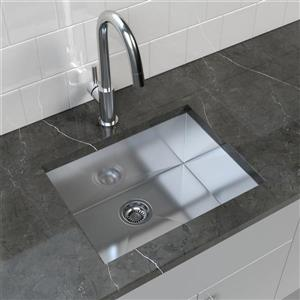 Stainless Steel Undermount Kitchen Sink - 23'' x 18''