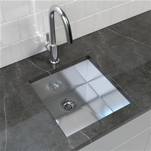 Stainless Steel Undermount Kitchen Sink - 19'' x 20''