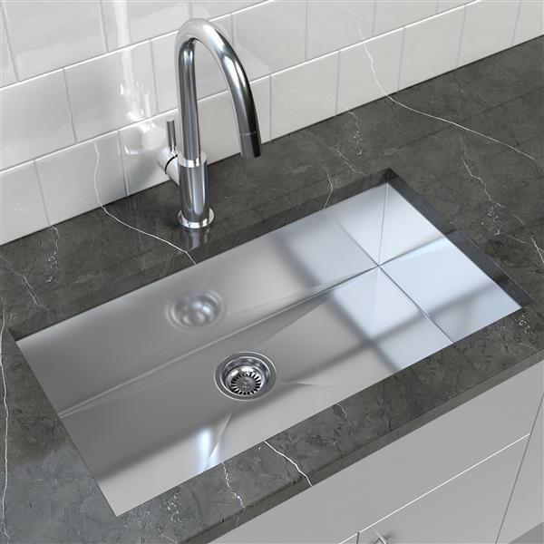 """Cantrio Koncepts Stainless Steel Undermount Kitchen Sink - 32"""" x 18"""""""