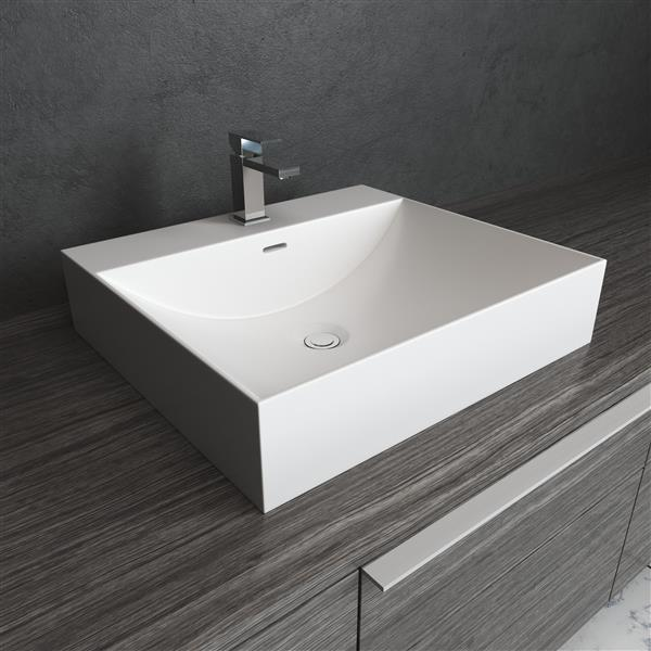 "Cantrio Koncepts Rectangular Vessel Bathroom Sink - White - 16"" x 12"" x 4"""