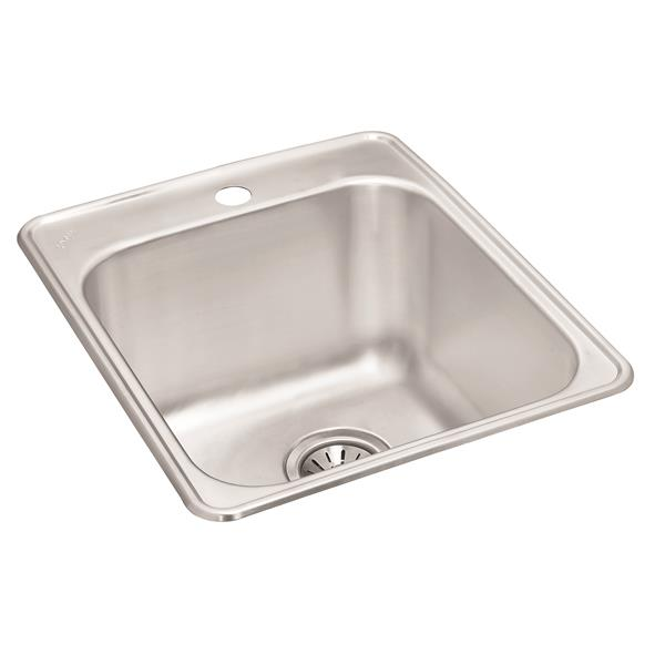 Wessan Stainless Steel Drop-In Utility Sink-20 7/8-in x 20 1/2-in x 10-in