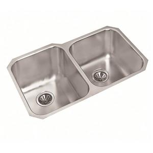 Wessan Double 1-3/4 Undermount Sink-19 7/8-in x 31-in x 8-in & 7-in