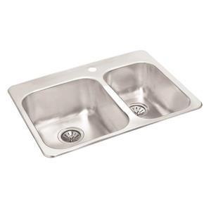 Double 1-1/2 Drop-In Sink - 20 1/2
