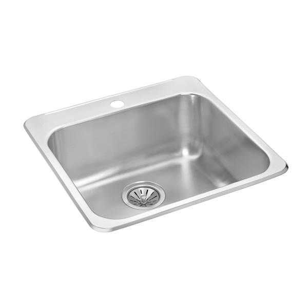 Wessan Stainless Steel Drop-In Sink - 20 1/2-in x 20 1/2-in x 8-in