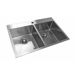 Wessan Stainless Steel Double Drop-In Sink - 20 7/8-in x 31-in x 8-in