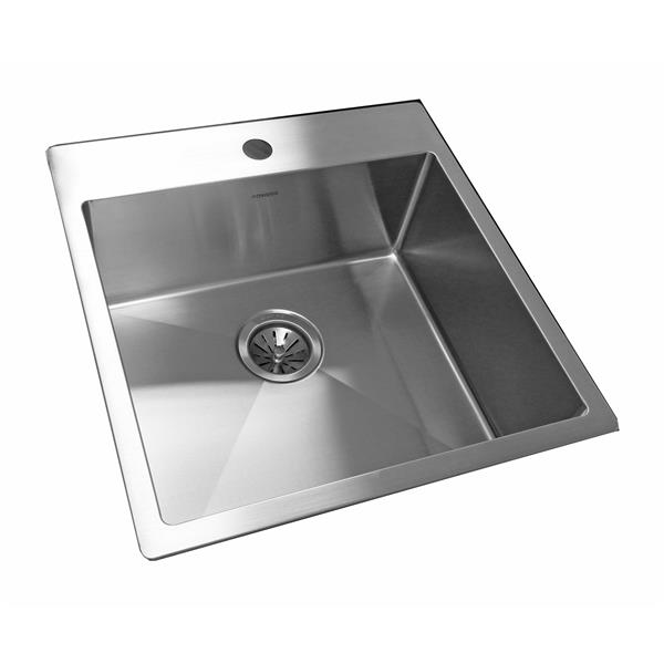 Wessan Stainless Steel Drop-In Sink - 20-in x 20 7/8-in x 8-in