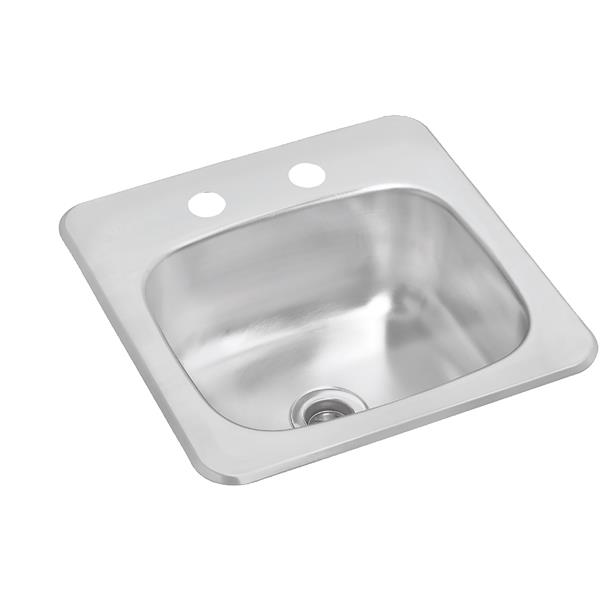Wessan Stainless Steel Drop-In Sink - 13 7/8-in x 14 1/4-in x 6-in