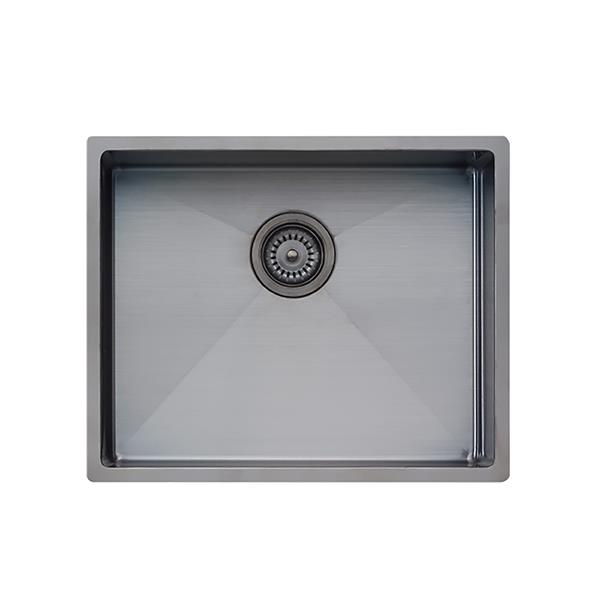 Wessan Universal Mount Sink- 21 1/4-in x 17 1/4-in x 8-in- Gunmetal