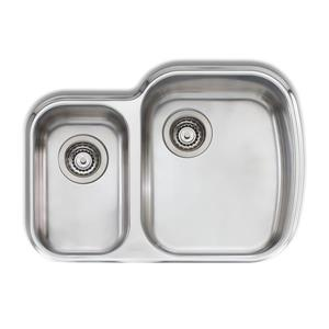 Double 1-1/2 Undermount Sink-27 5/8