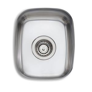 Wessan Stainless Steel Undermount Sink - 13 3/4-in x 11 3/8-in x 6 1/2-in