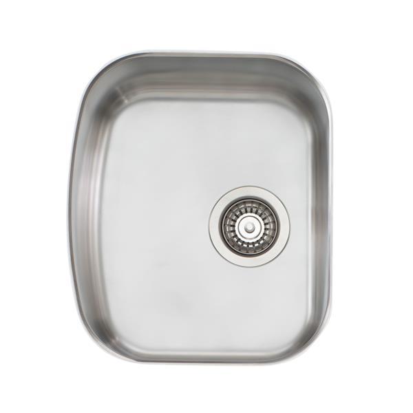 Wessan Stainless Steel Undermount Sink - 15-in x 17 3/4-in x 8-in