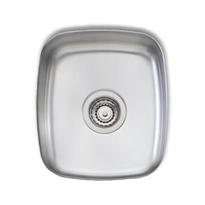 Wessan Stainless Steel Undermount Sink - 13 3/4-in x 16-in x 6-in