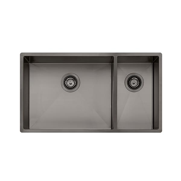 Wessan Double 1-1/2 Universal Mount Sink - 31-in x 17 1/2-in x 8-in