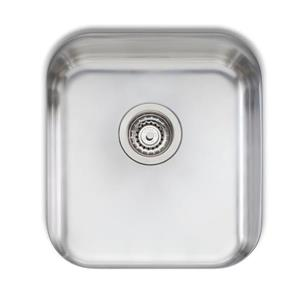 Wessan Stainless Steel Undermount Sink - 16 1/8-in x 17 3/4-in x 8-in