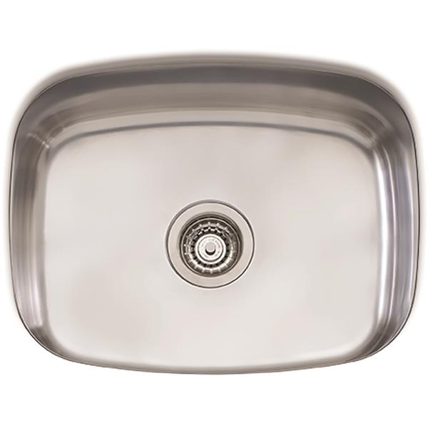 Wessan Stainless Steel Undermount Sink - 23 1/4-in x 18 1/2-in x 9 1/4-in