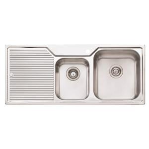 Wessan Double 1-3/4 Universal Sink -45 1/4-in x 19 3/4-in x 8-in & 5 1/2-in