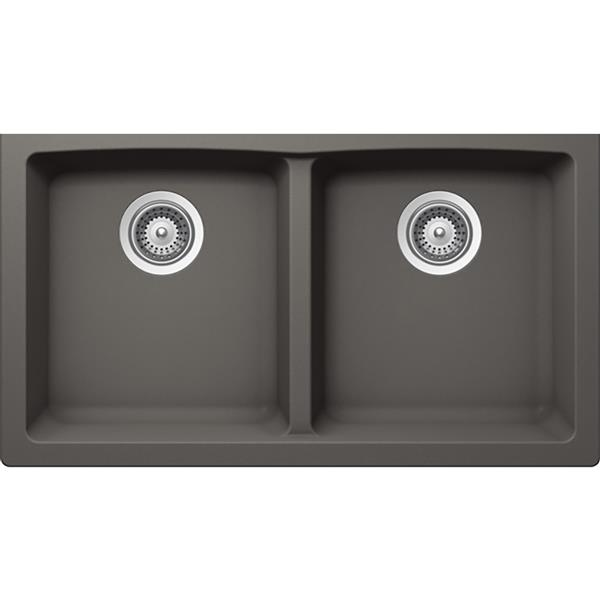 Wessan Granite Double Undermount Sink - 17 1/4-in x 31-in x 9-in