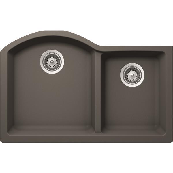 Wessan Granite Double 1-3/4 Undermount Sink - 20-in x 31-in x 9-in