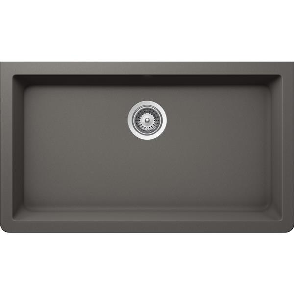 Wessan Granite Undermount Sink - 18 1/2-in x 33-in x 9 7/16-in