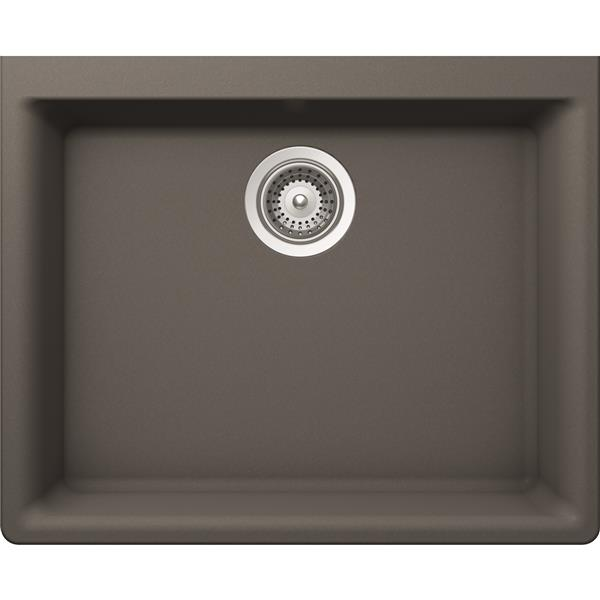 Wessan Granite Undermount Sink - 18 1/4-in x 23 5/8-in x 8 5/8-in