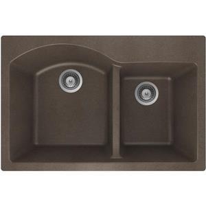 Double 1-3/4 Drop-In Sink - 20 1/2