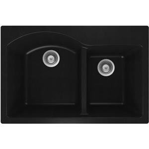 Granite Double 1-3/4 Drop-In Sink -20 1/2