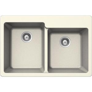 Double 1-3/4 Drop-In Sink - 22
